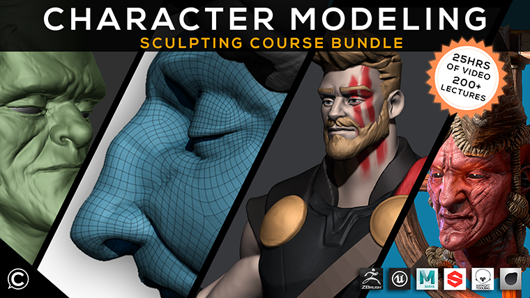 3D Character Modeling Course Bundle: Comprehensive Sculpting Guide