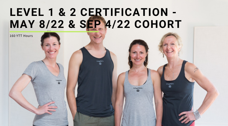 Level 1 & 2 Certification - May 8/22 & Sep 4/22 Cohort