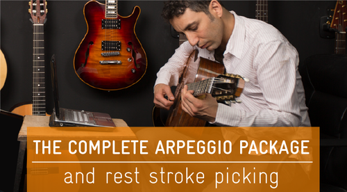 The Complete Arpeggio Package and Rest Stroke Picking