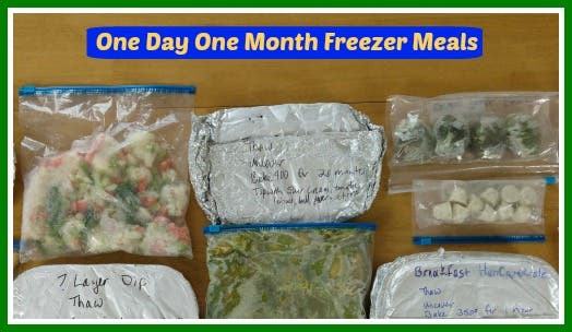 One Day One Month Freezer Meal Master Class