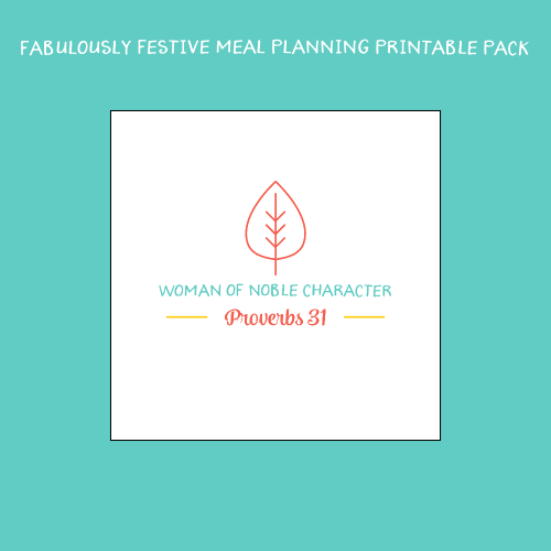 Fabulously Festive Meal Planning Printable Pack
