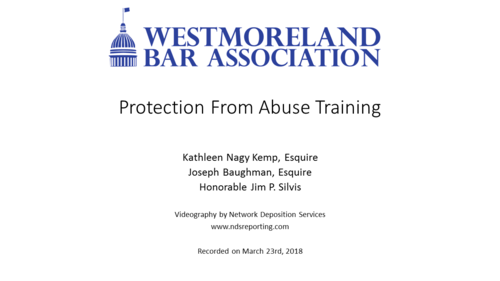 Protection from Abuse Training (1 PA Substantive CLE)