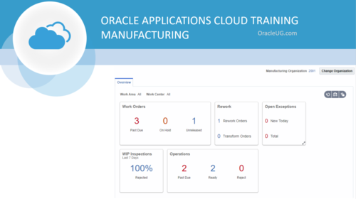 Oracle Cloud Applications - Manufacturing