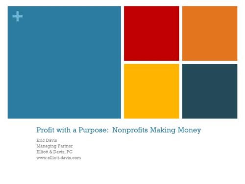 Profit with a Purpose: Nonprofits Making Money