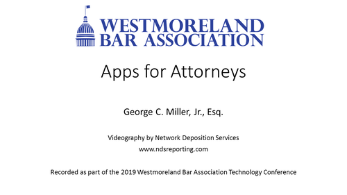 Apps for Attorneys (1 PA Substantive CLE)