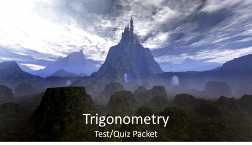 College Algebra/Trigonometry Test/Quiz Packet