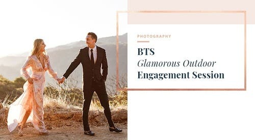 BTS - Glamorous Outdoor Engagement Session