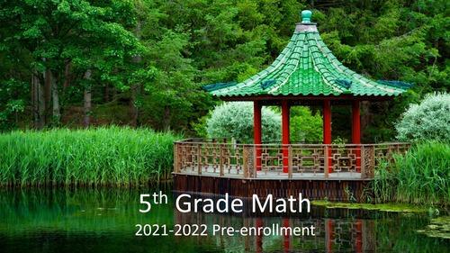 5th Grade: 2021-2022 Pre-enrollment