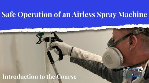 Safe operation of an airless spray machine