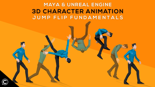 Maya & Unreal: 3D Character Animation Jump Flip Fundamentals
