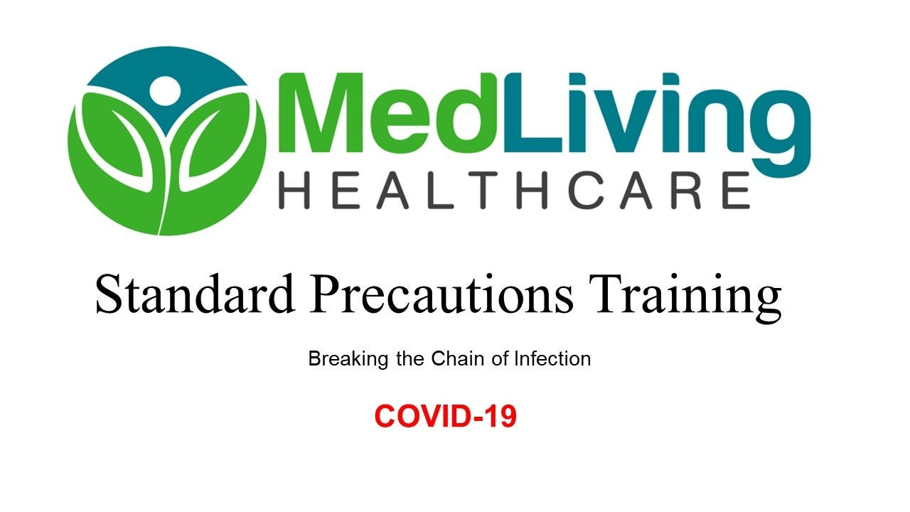 Standard Precautions Training - COVID19- 2 Hours