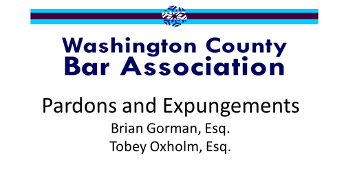 Pardons and Expungements (2 PA Substantive CLE Credits)