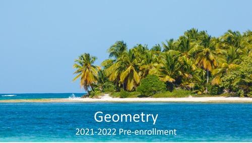 Geometry, Section 2: 2021-2022 Pre-enrollment