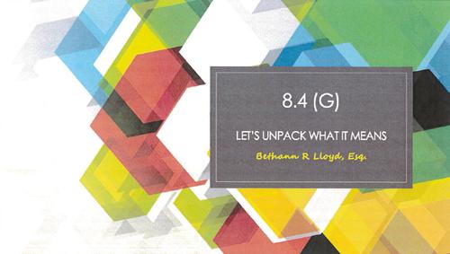 Malpractice Avoidance: RPC 8.4(g) (1 PA Ethics CLE)