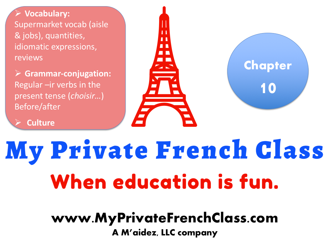 French Beginners - Chapter 10 - 1 month access