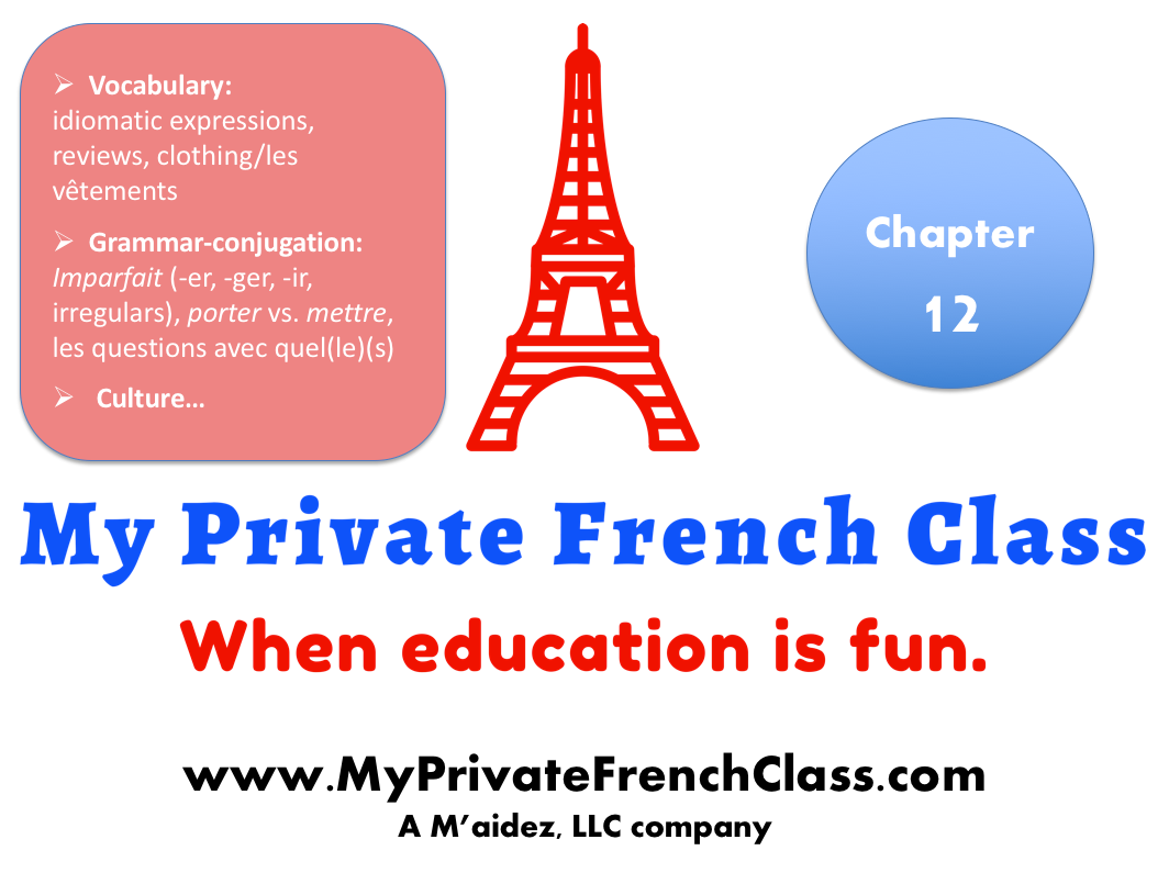 French intermediate - Chapter 12 - 1 month access