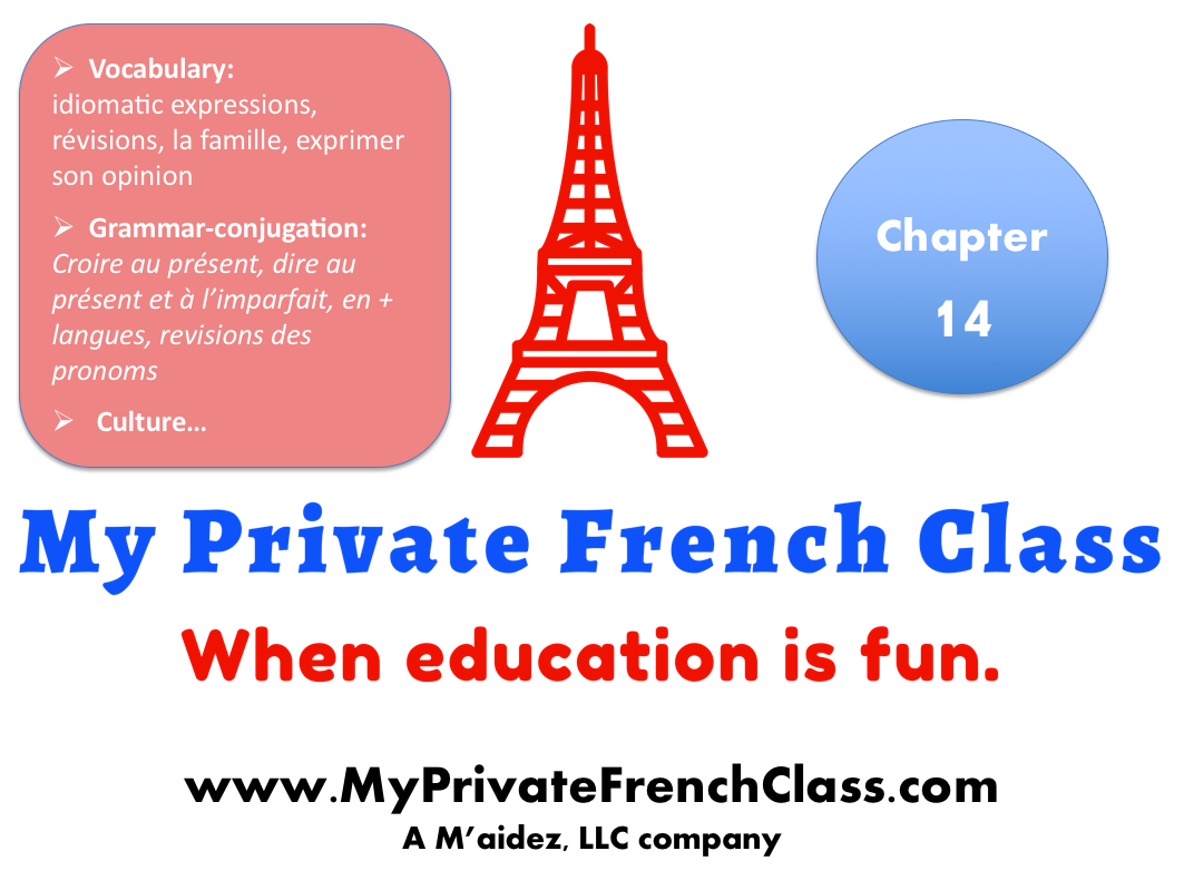 French intermediate - Chapter 14 - 1 month access
