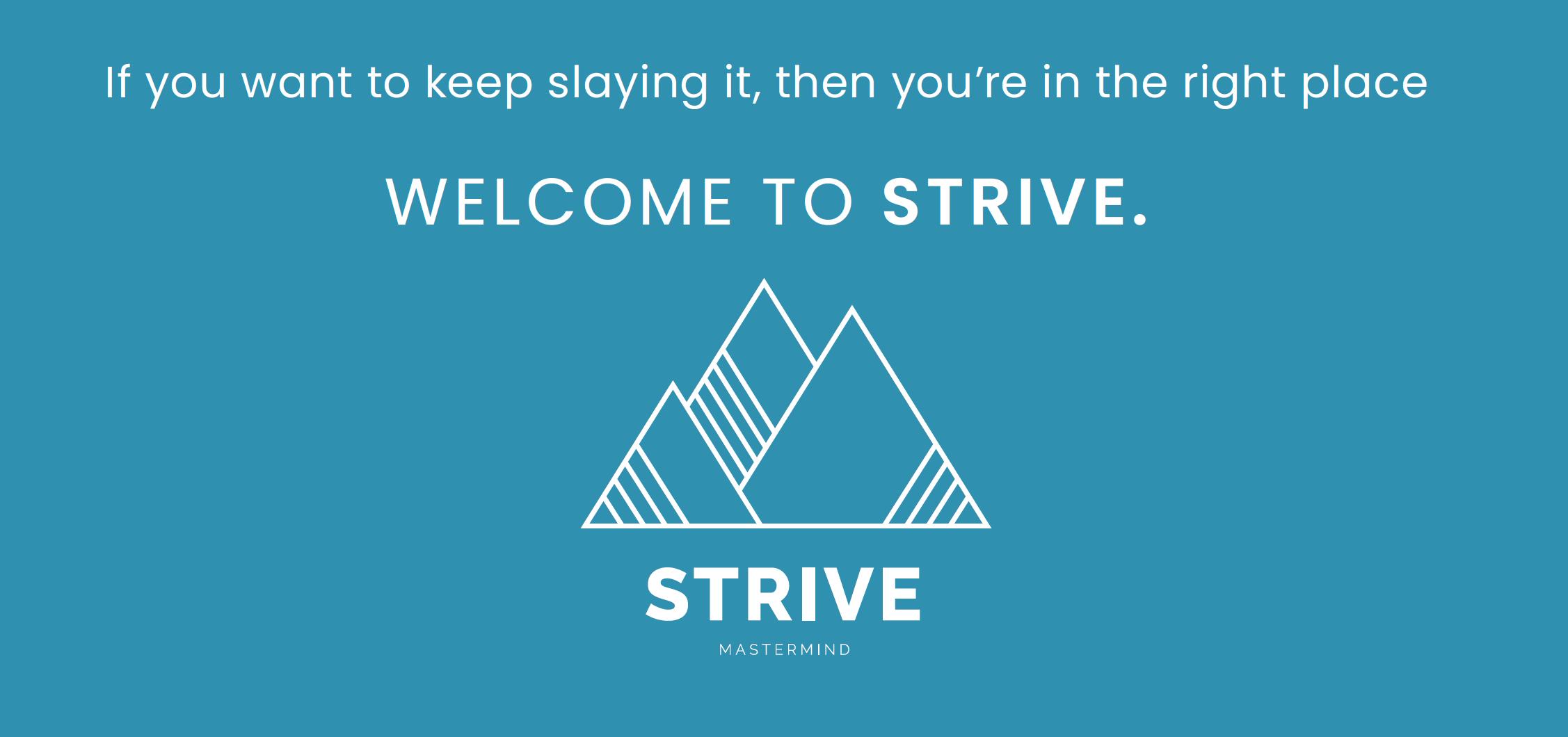 STRIVE Strategy