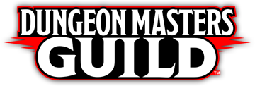 Dungeon Masters Guild written in blocky white text and outlined in black and red.