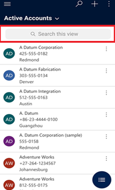 DyDynamics 365 for phones and tablets