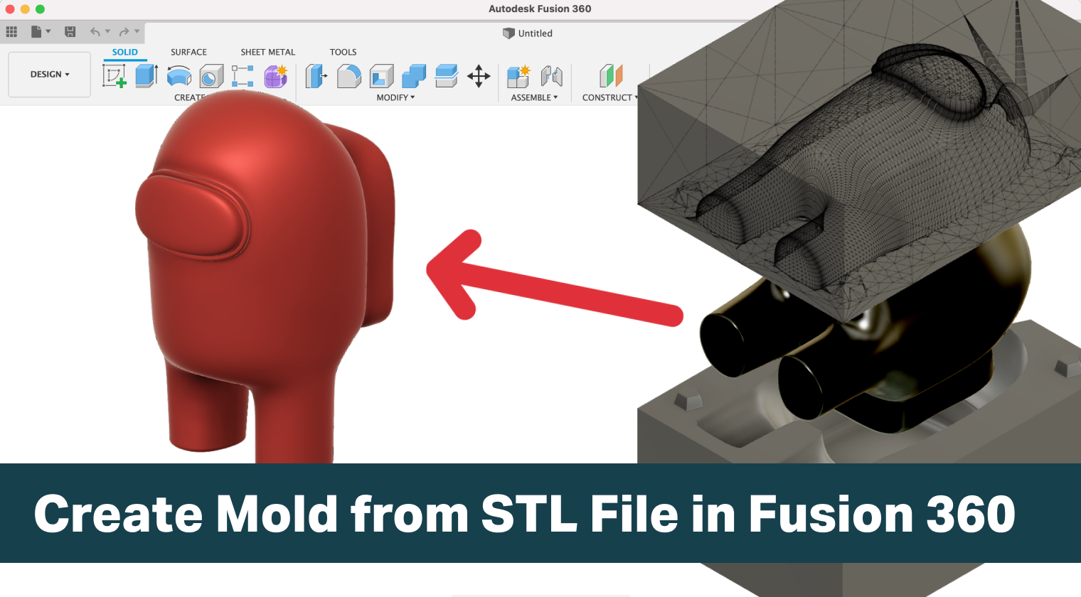 Create Mold from STL File using Fusion 360