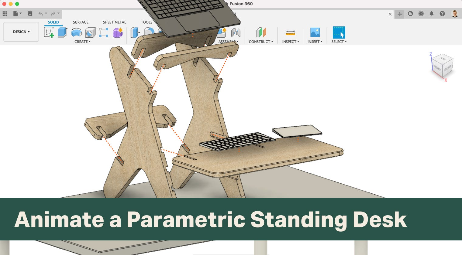 Animate a Parametric Standing Desk in Fusion 360