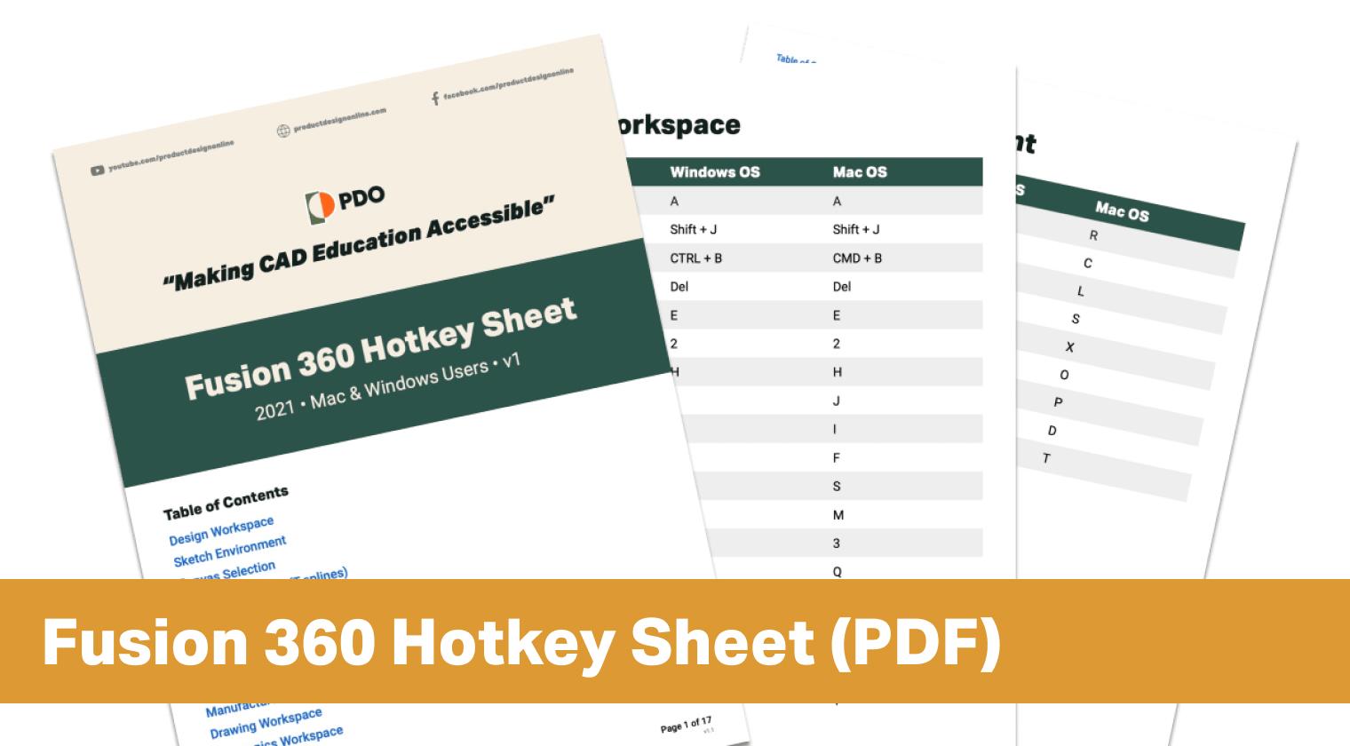 Fusion 360 Hotkeys