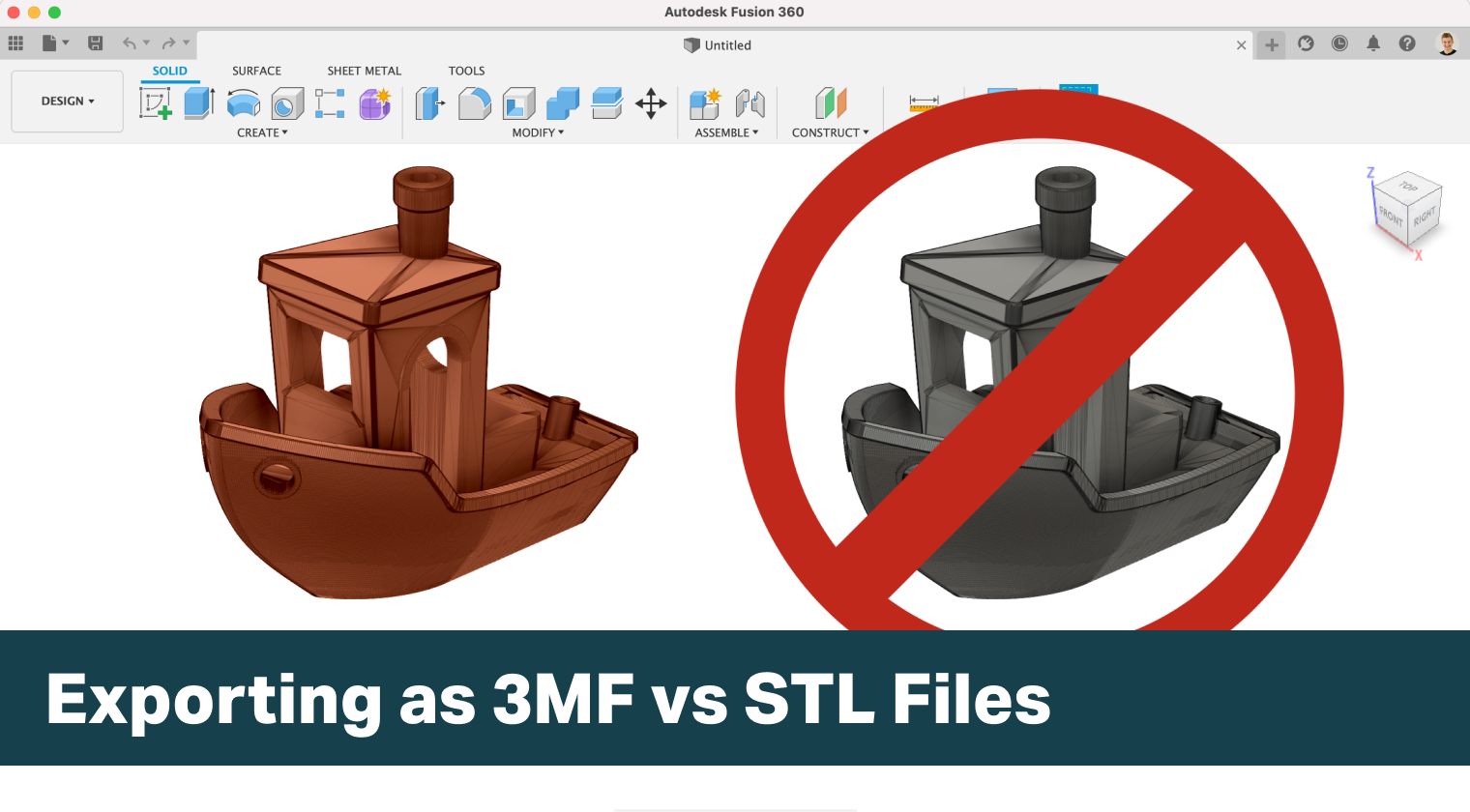 Exporting as 3MF vs STL Files