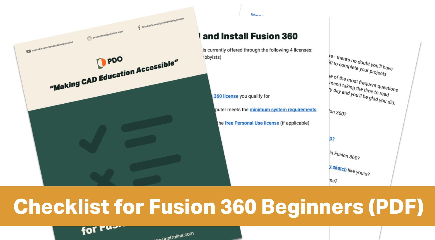 Ultimate Checklist for Fusion 360 Beginners