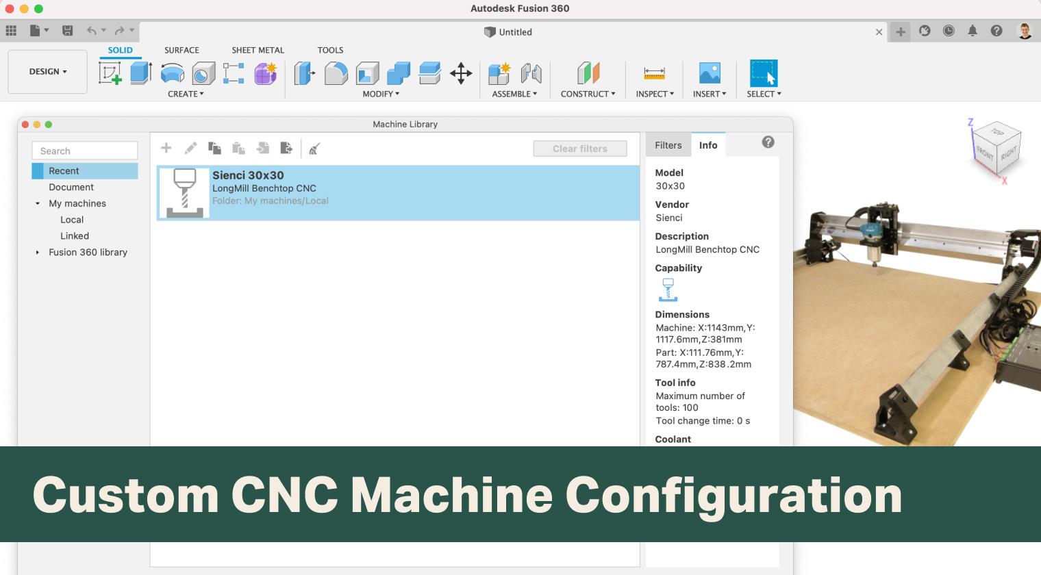 Create Your Custom CNC Machine Configuration in Fusion 360