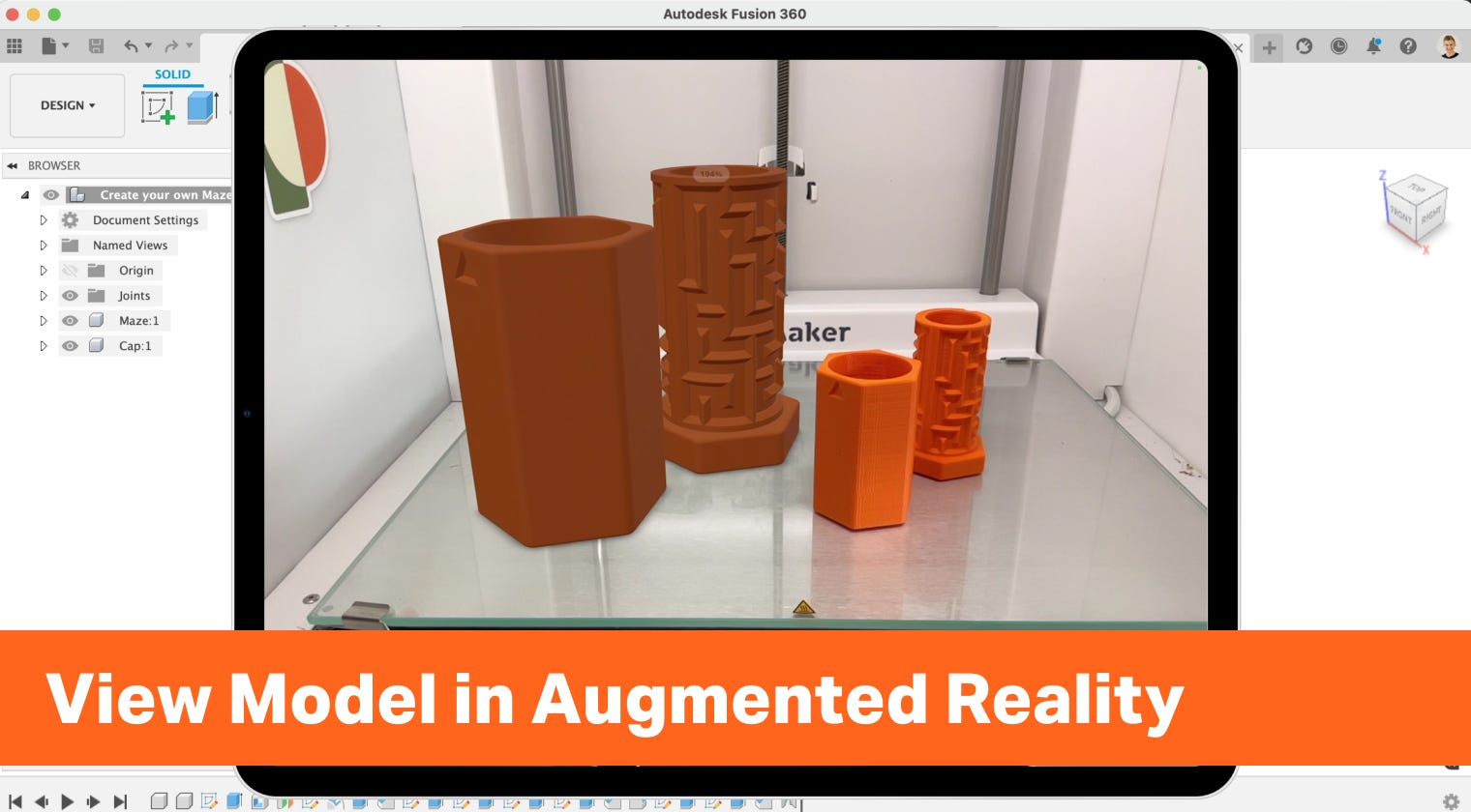 How to View Fusion 360 Model in Augmented Reality