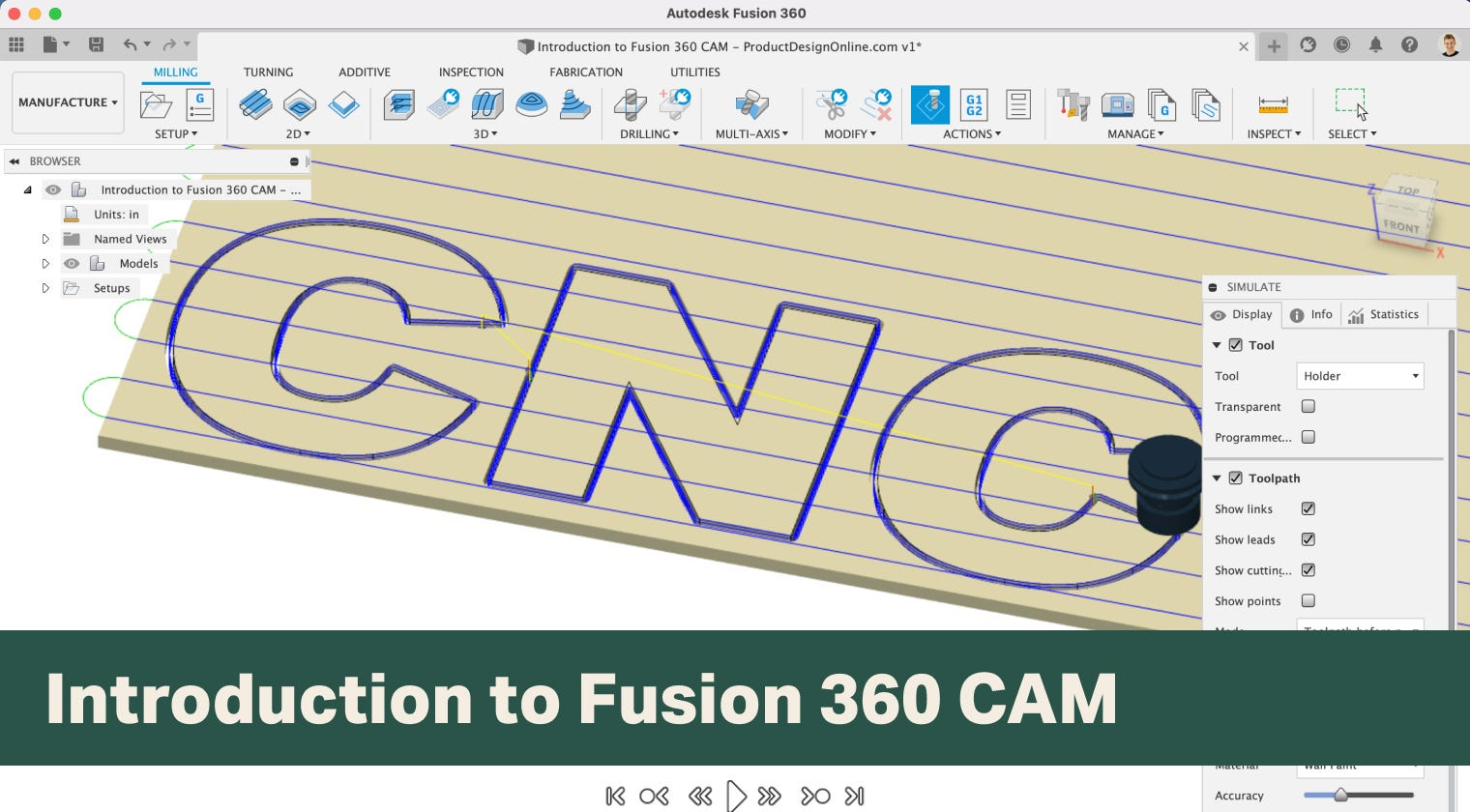 Introduction to Fusion 360 CAM for Woodworkers course by Product Design Online