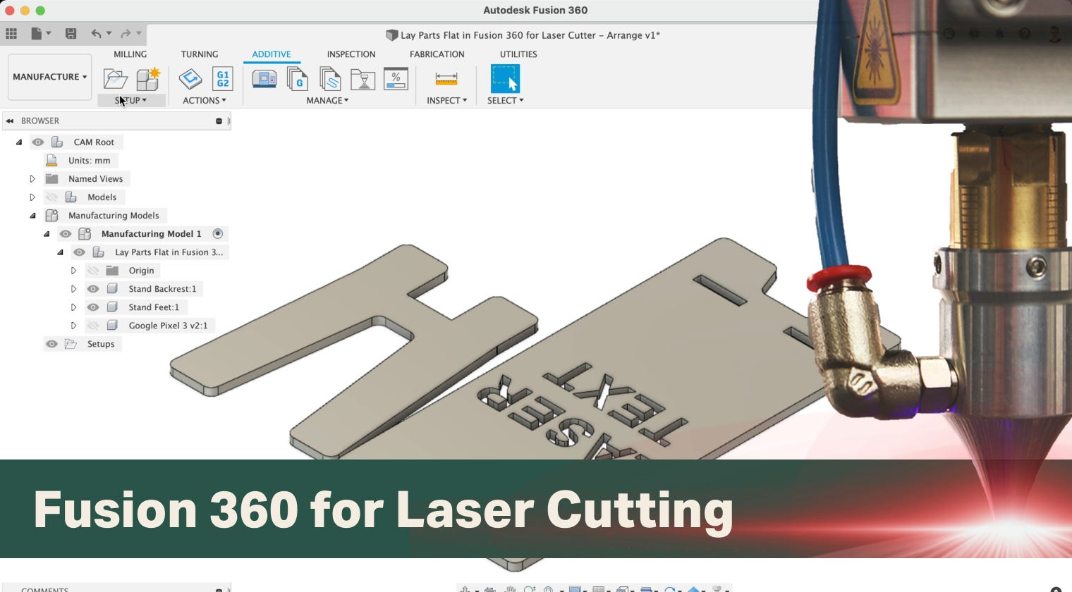 Learn Fusion 360 for Laser Cutting