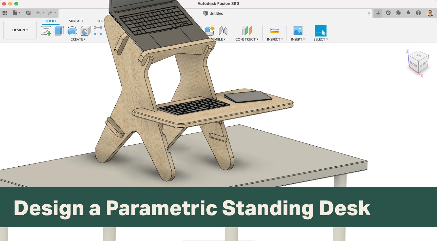 Design a Parametric Standing Desk in Fusion 360