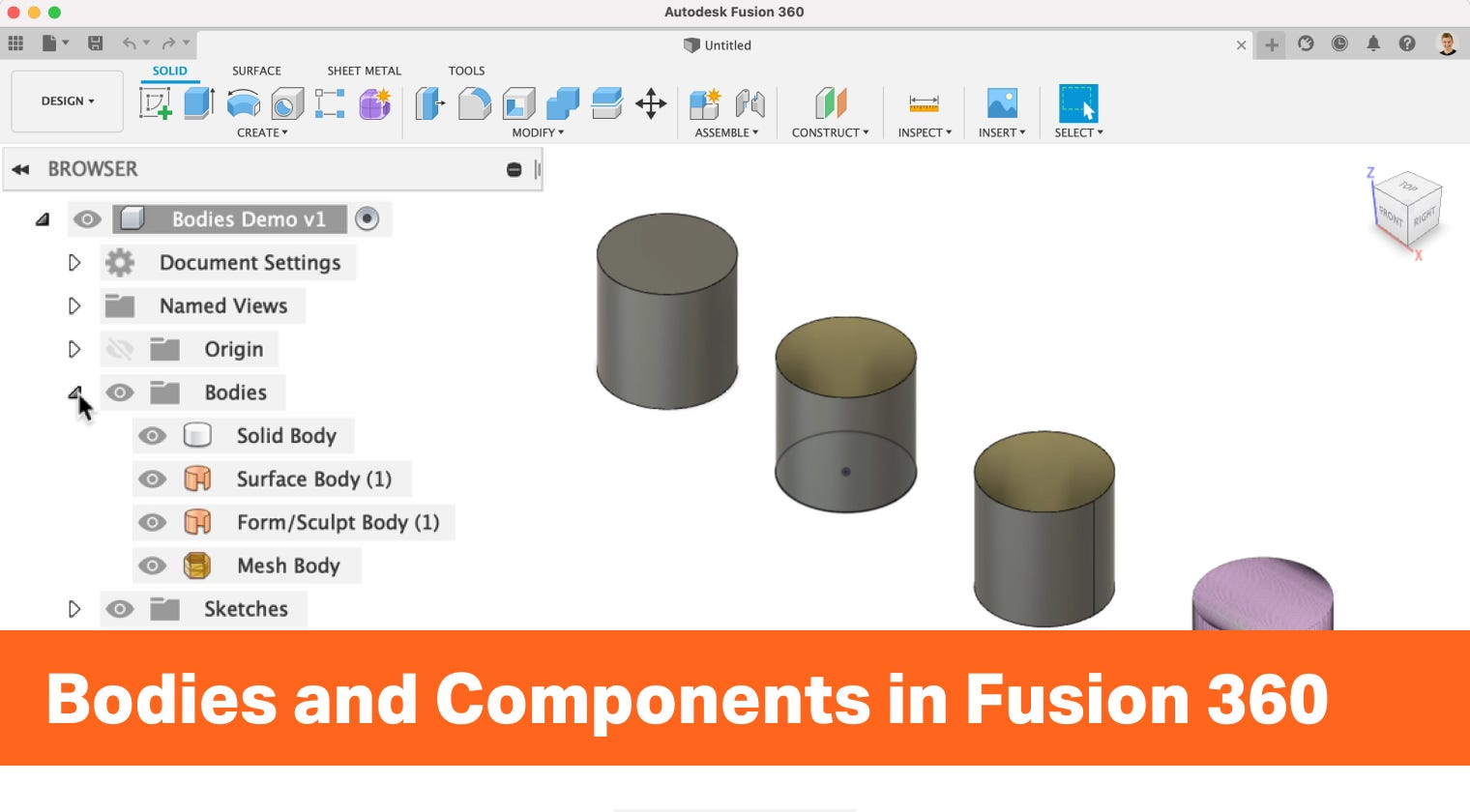 Understanding Bodies and Components in Autodesk Fusion 360
