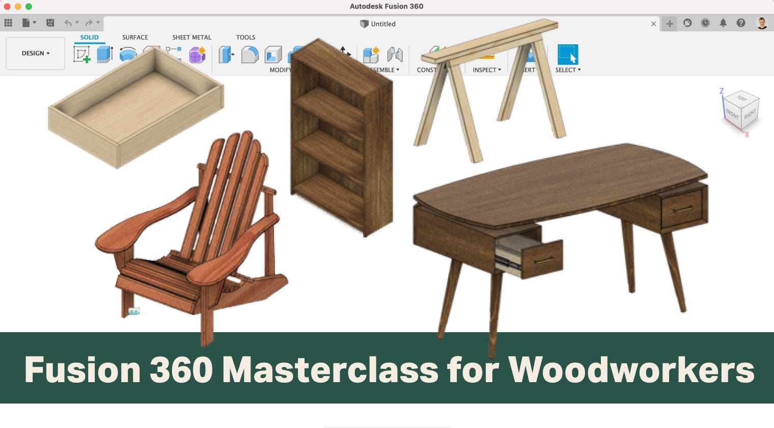 Learn Fusion 360 for Woodworking