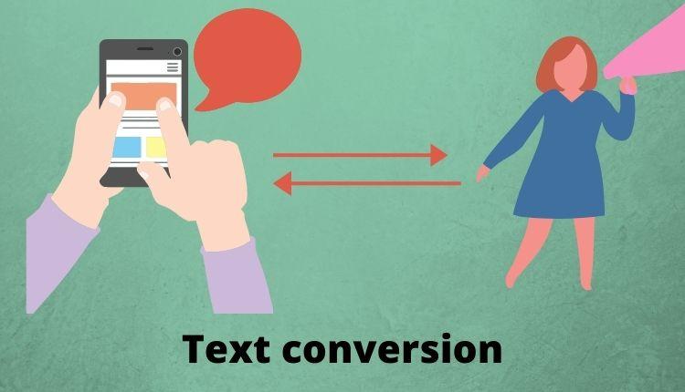 Text conversion