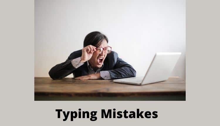 Touch typing mistakes