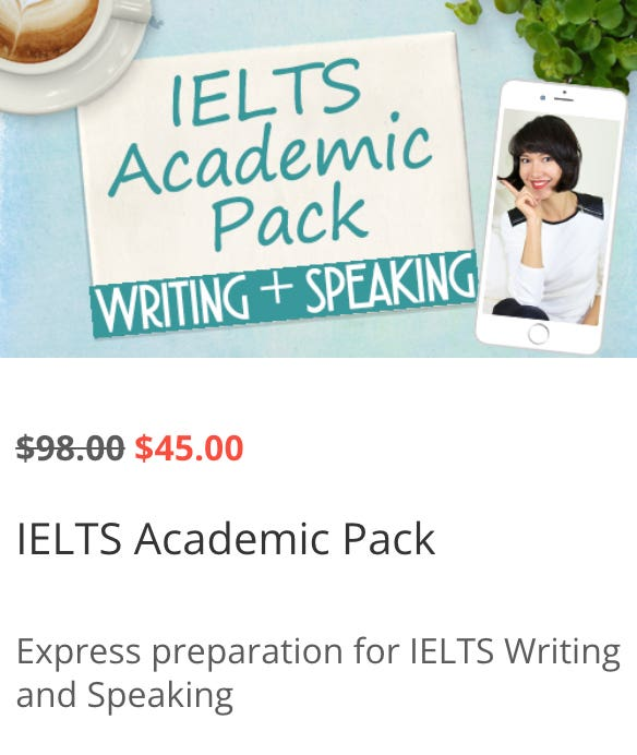 IELTS Academic Pack (Writing + Speaking)
