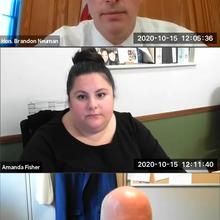 Honorable Brandon Neuman,  Amanda Fisher, Esq. and David Rundquist, Esq.