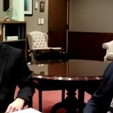 President Judge Thomas Doerr and Daniel Lynch, Esq.